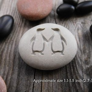 Penguin Love Stone