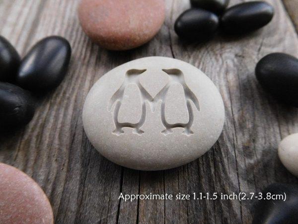Penguin Love Stone